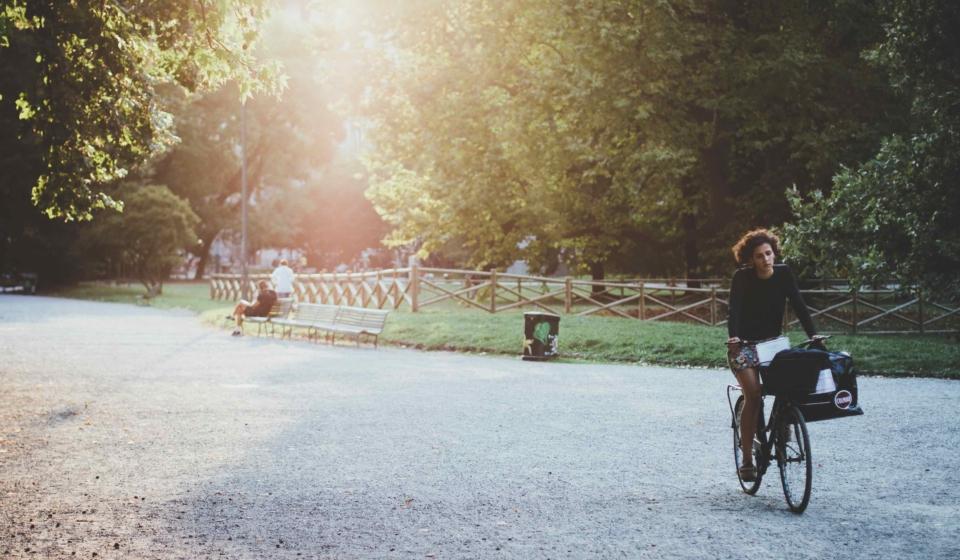 fiets moment genieten zintuigen